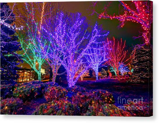 Dazzling Christmas Lights Canvas Print