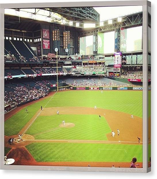 Rattlesnakes Canvas Print - @dbacks #dbacks #mlb #baseball by Erik Merkow