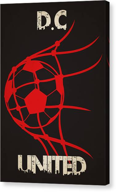 Soccer Teams Canvas Print - Dc United Goal by Joe Hamilton