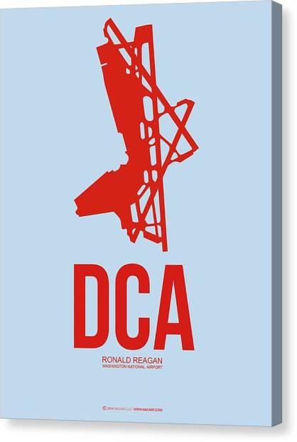 Washington D.c Canvas Print - Dca Washington Airport Poster 2 by Naxart Studio