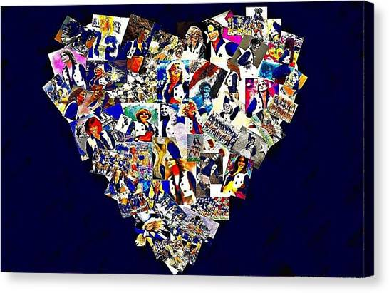 Dallas Cowboys Cheerleaders Canvas Print - Dcc Sisters by Carrie OBrien Sibley