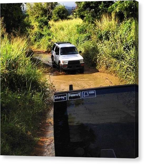 Toyota Canvas Print - De Camino... Luquillo... #4x4 #4runner by Nestor Cruz