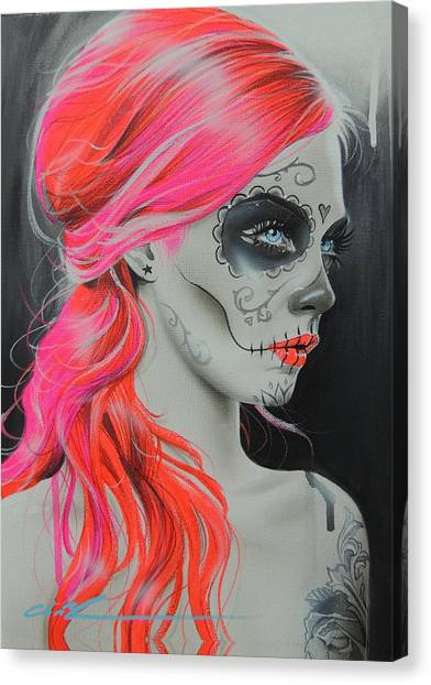 Skulls Canvas Print - De Rerum Natura by Christian Chapman Art