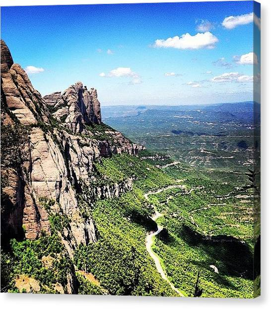 Falcons Canvas Print - De Via Ferrata Per Montserrat! by Carles Falcon