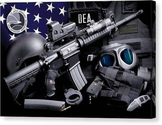 Dea Canvas Print - Dea Tactical by Gary Yost