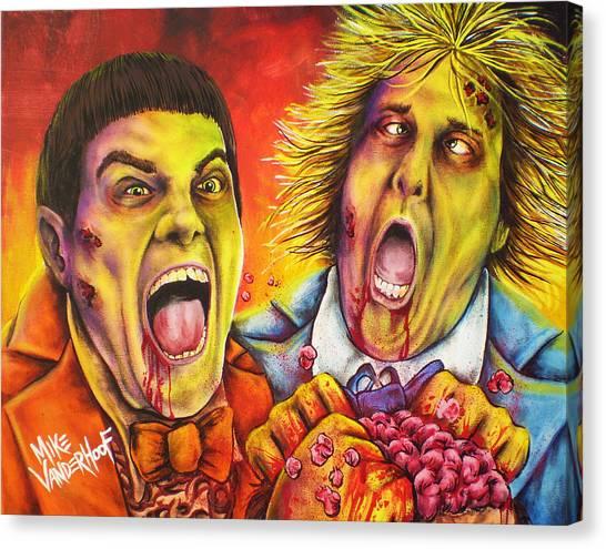 Jim Carrey Canvas Print - Dead And Deader By Mike Vanderhoof by Michael Vanderhoof