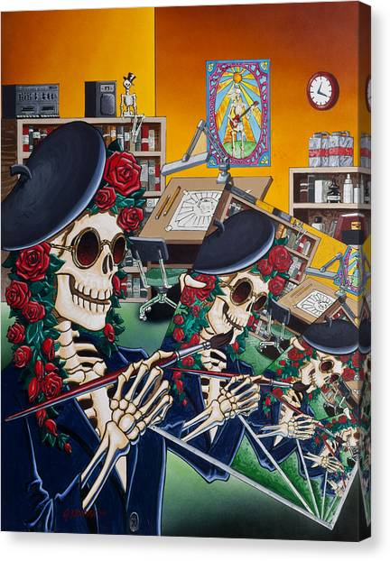Grateful Dead Canvas Print - Dead Artist Society by Gary Kroman