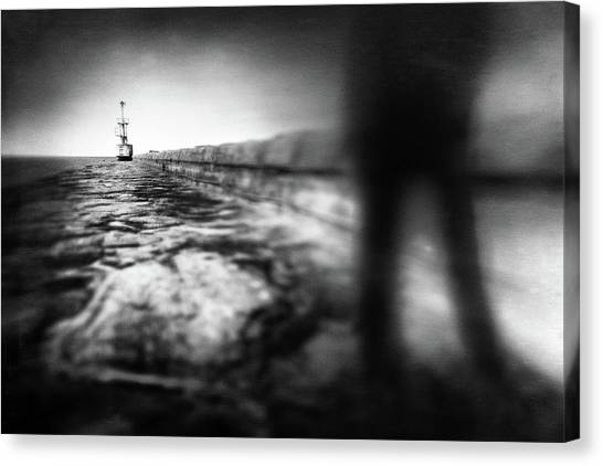 Pier Canvas Print - Dead End by Gustav Davidsson