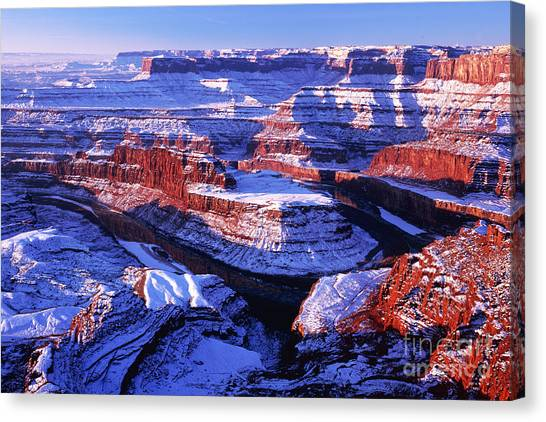 Dead Horse Point At New Year Day Canvas Print