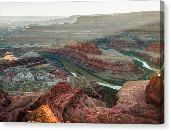 Dead Horse Point At Sunset Canvas Print