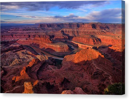 Canvas Print featuring the photograph Dead Horse Point Sunrise by Greg Norrell