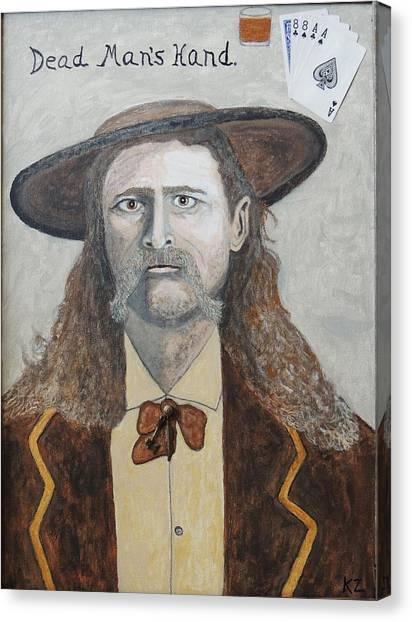 Dead Man's Hand.james Butler Hickok. Canvas Print