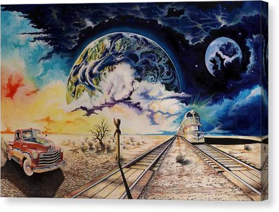 Dead Tree Junction Canvas Print