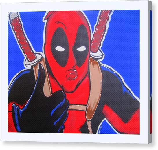 Deadpool Duckface Selfie Canvas Print by Gary Niles