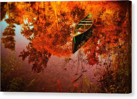 Deagol's Dinghy Canvas Print by Roger Chenery