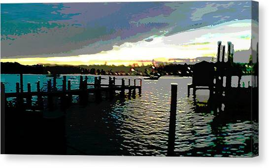 Deale Maryland Harbour Seascape Canvas Print