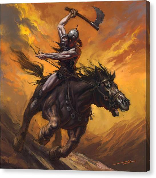 World Of Warcraft Canvas Print - Dealing Death by Alan Lathwell