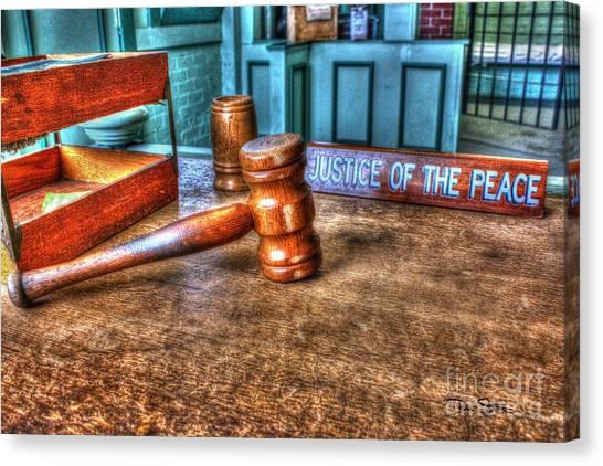 Dealing Justice Canvas Print