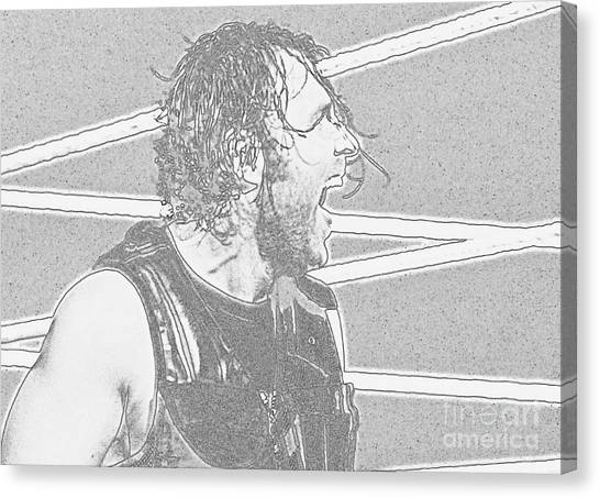 Wwe Canvas Print - Dean Ambrose by Paul Wilford