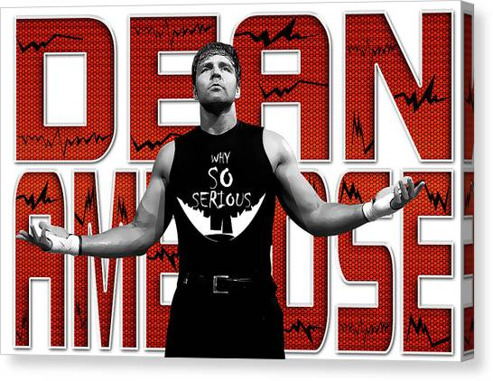 Wwe Canvas Print - Dean Ambrose Why So Serious by Anibal Diaz