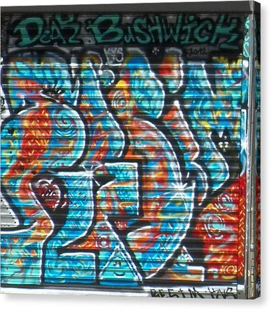 Graffiti Walls Canvas Print - Dear Bushwick by Steven Huszar