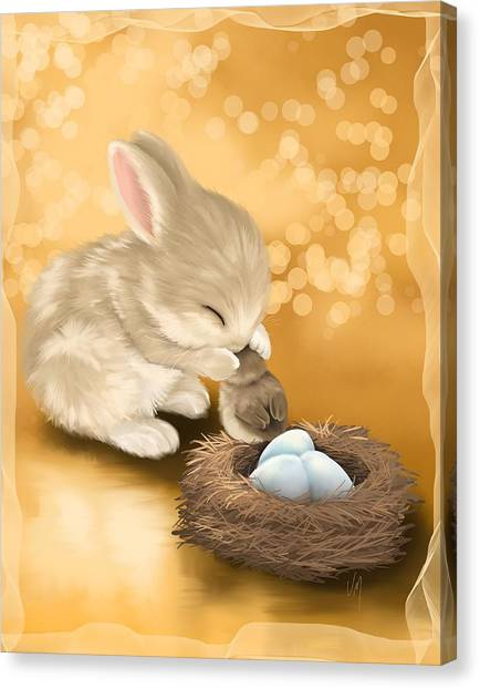 Easter Eggs Canvas Print - Dear Friend by Veronica Minozzi