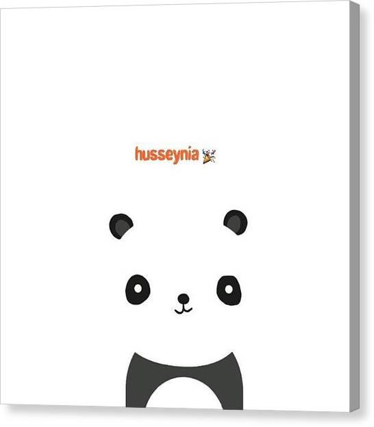 Panda Canvas Print - Dear Husseynia. #panda #sister #fun by Rendrawati Sadji