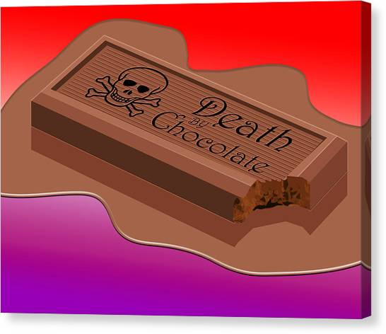 Death Canvas Print - Death By Chocolate by Greg Joens