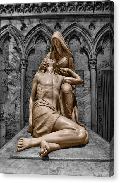 Death Of The Son Of God Canvas Print by Lee Dos Santos