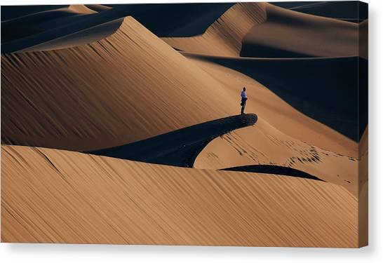 Dunes Canvas Print - Death Valley by Libby Zhang