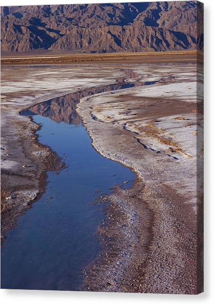 Death Valley Salt Stream 1 Canvas Print