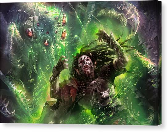 Elf Canvas Print - Death's Presence by Ryan Barger