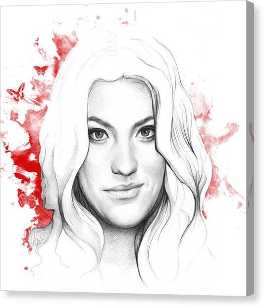 Blood Canvas Print - Debra Morgan - Dexter by Olga Shvartsur