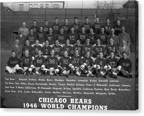 Braces Canvas Print - Chicago Bears Of 1946 by Retro Images Archive