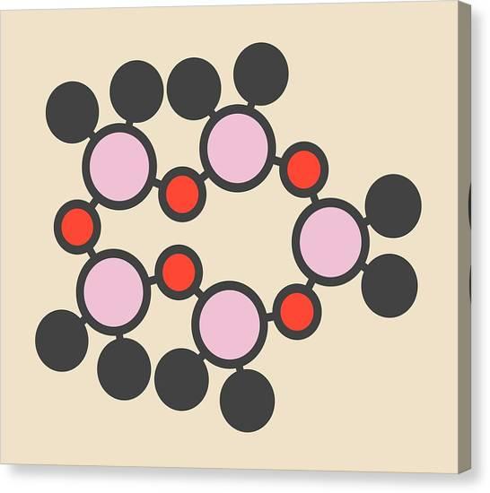 Fluid Canvas Print - Decamethylcyclopentasiloxane Molecule by Molekuul