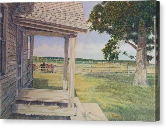 Decayed Farm House Canvas Print