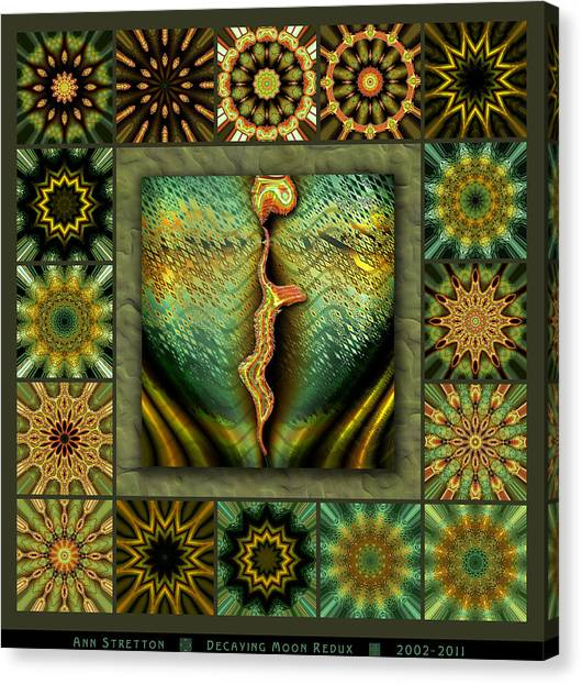 Decaying Moon Redux Canvas Print