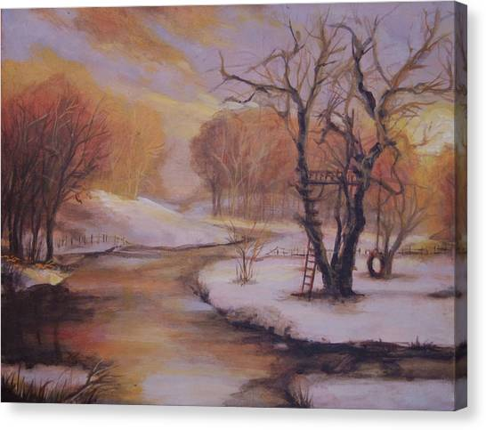 December Evening Canvas Print