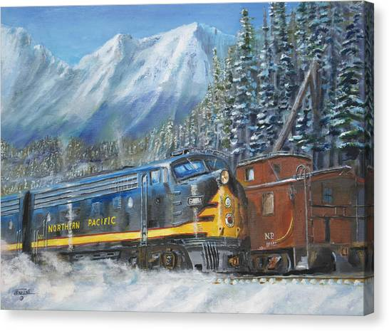 Trees In Snow Canvas Print - December On Stampede Pass by Christopher Jenkins