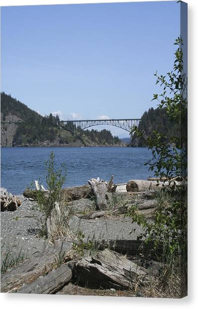 Deception Pass Bridge IIi Canvas Print by Mary Gaines