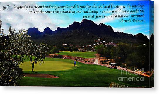 Arnold Palmer Canvas Print - Deceptively Simple by Nancy Stein