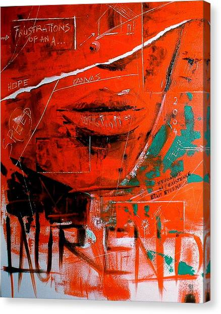 Dechirure Canvas Print by Laurend Doumba