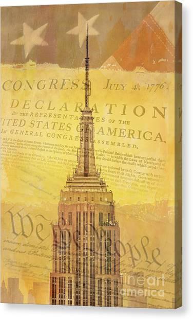 4th Of July Canvas Print - Liberation Nation by Az Jackson