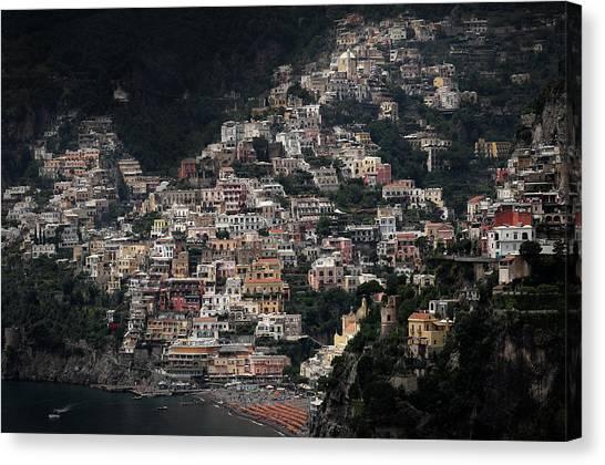 Mountain Cliffs Canvas Print - Declaration Of Love by Hans-wolfgang Hawerkamp
