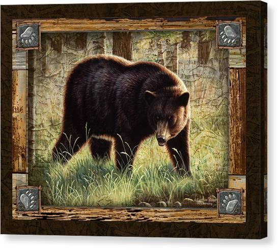 Black Bears Canvas Print - Deco Black Bear by JQ Licensing