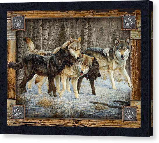 Howling Wolves Canvas Print - Deco Wolves by JQ Licensing