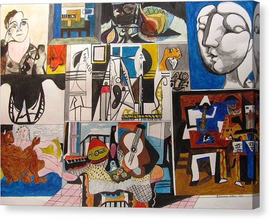 Deconstructing Picasso - Women And Musicians Canvas Print