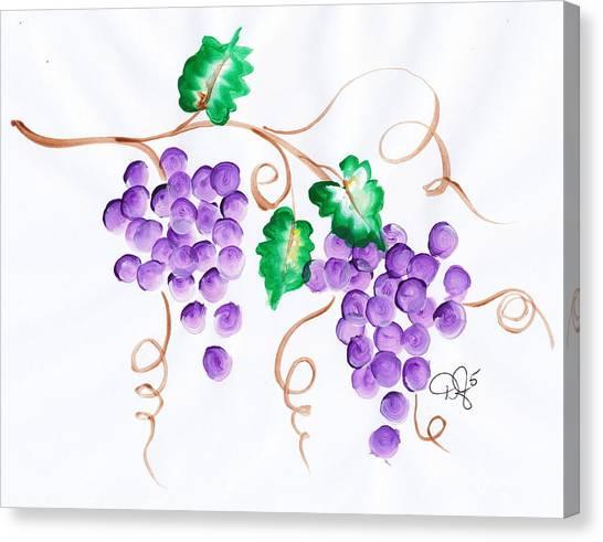 Decorative Grapes Canvas Print