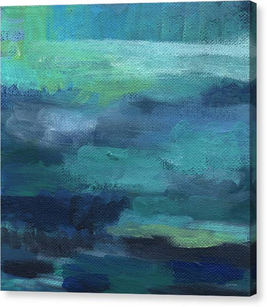 Abstract Designs Canvas Print - Tranquility- Abstract Painting by Linda Woods