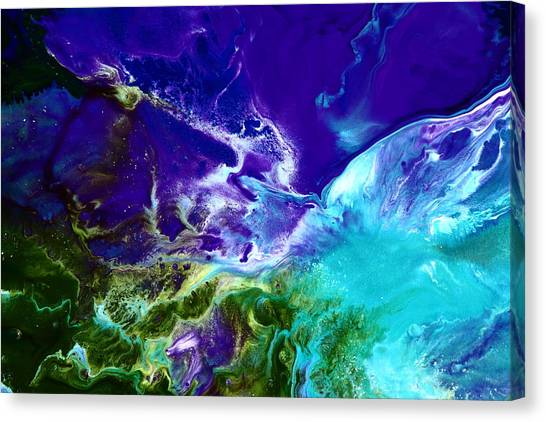 Deep Blue Sea Abstract Canvas Print